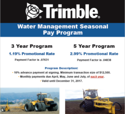 Trimble Water Management Seasonal Pay Program