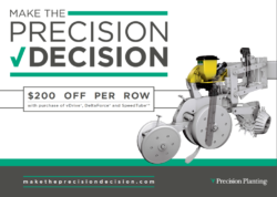 Precision Planting – $200/ROW REBATE